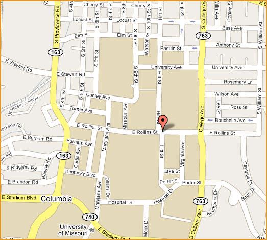 University Of Missouri Map